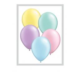 Įvairiaspalviai  perlamutriniai balionai (25vnt./28cm.Q11)