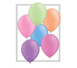 Įvariaspalviai fluorescenciniai balionai (25 vnt./28 cm. Q11)