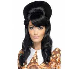 Juodas ilgas perukas