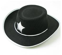 """Juodos spalvos """"Šerifo kepurė"""" (1 vnt.)"""