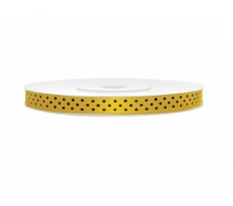 Juostelė medžiaginė/geltona su tašk. (6mm./25m.)