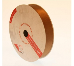 """Juostelė tamsiai ruda """"Double satin"""" (45m./25mm(S24))"""