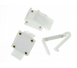 Kabliukas tvirtinimui plastikinis (10vnt)