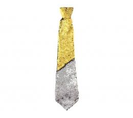 Kaklaraištis / auksinis-sidabrinis (1 vnt./34 cm.)