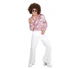 Karnavalinės Disco kelnės / baltos (Dydis: M/L)