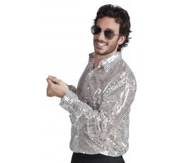Karnavaliniai Disco marškiniai / sidab. (Dydis: L)