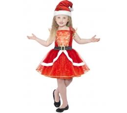 """Karnavalinis kostiumas """"Kalėdų mergaitė"""" (135 - 152 cm.)"""