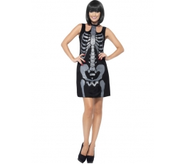 """Karnavalinis kostiumas """"Skeleto suknelė"""" (Dydis: L)"""