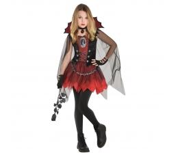 """Karnavalinis kostiumas """"Vampyrė"""" (90 - 110 cm.)"""