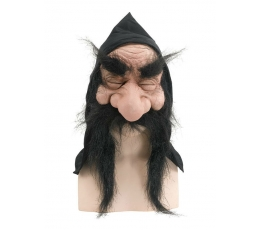 """Kaukė """"Gnomas"""" / juodi plaukai (1 vnt.)"""