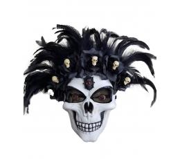 """Kaukė """"Kaukolė su gėlėmis"""" (1 vnt.)"""
