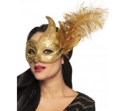 """Kaukė """"Venecija"""", auksinė"""