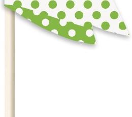 Keksiukų formelės ir smeigtukai/žalios (24 vnt.) 1