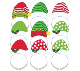 """Kepurės """"Kalėdų senelis"""" (8 vnt.)"""