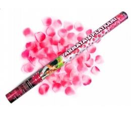 Konfeti patranka rožiniai rožių žiedlap. (80cm./1 vnt.)