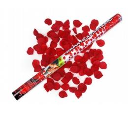 Konfeti patranka t.bordiniai rožių žied (80cm./1 vnt.)