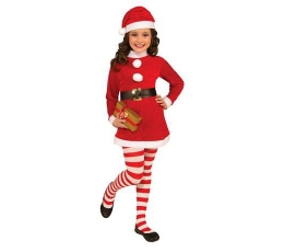 """Kostiumas karnavalinis """"Kalėdų mergaitė"""" (116 - 130 cm.)"""