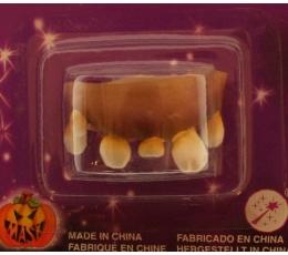 Kreivi guminiai dantys, gelsvi