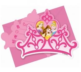 """Kvietimai """"Princesės"""" (6 vnt./12 cm. x 15 cm.)"""