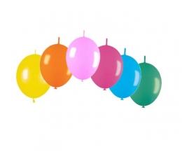 Balionai girliandai, spalvoti (15 vnt./28 cm)