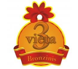 """Medalis""""Bronzinis - 3 Vieta"""" (9cm.)"""