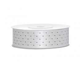 Medžiaginė juostelė/balta su taškeliais (25mm./25m.)