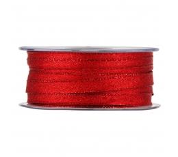 Medžiaginė juostelė / blizganti raudona (10 mm. x 50 m.)