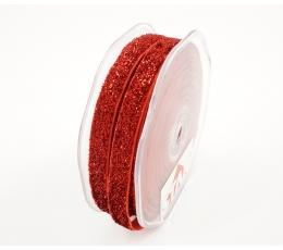 Medžiaginė juostelė /Blizgantis raudonis (9 mm. x 15 m.)