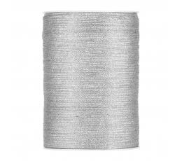 Medžiaginė juostelė / sidabrinė (3 mm. x 500 m.)