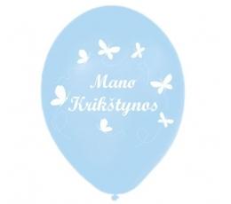 "Melsvi balionai ""Mano krikštynos"" (25 vnt./28cm.)"