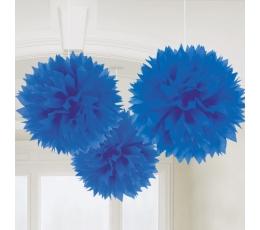 Mėlynų pūkuočių rinkinys (3vnt./40.6 cm./AKCIJA)