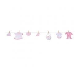 Mergaitės drabužėlių dekoracija (1 vnt./122 cm)