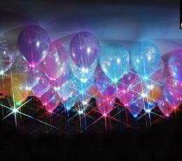 Mirksinti švieselė balionui-balta (1 vnt.) 0