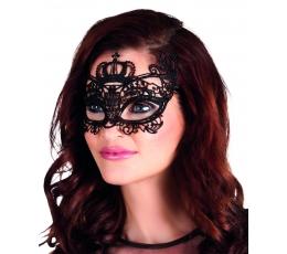 Nėriniuota veido kaukė / juoda