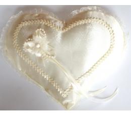 """Pagalvėlė žiedams """"Šampaninė širdis"""" (23 cm. x 28 cm)"""