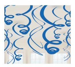 Pakabinamos dekoracijos / mėlynos (12 vnt./ 55 cm.)