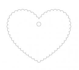 Palinkėjimų širdelė / balta (20 vnt.)