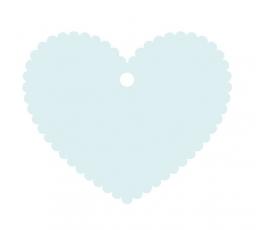Palinkėjimų širdelė/melsva (20 vnt.)