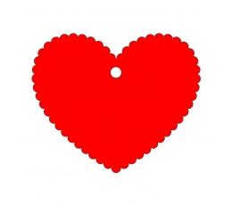 Palinkėjimų širdelė / raudona (20 vnt.)