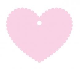 Palinkėjimų širdelė/rožinė (20 vnt.)