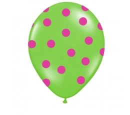 """Past. balionai """"Salotiniai su rož.tašk."""" (30 cm./50vnt.)"""