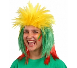 """Perukas """"geltona-žalia-raudona"""""""