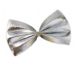 Peteliškė / blizgi sidabrinė (1 vnt./13 cm. x 7.5 cm.)