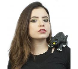 """Peties aksesuaras su segtuku """"Juodoji katė"""""""