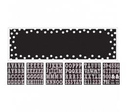 Plakatas su raidėmis / juodas (165 x 50,8 cm)