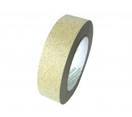 Plastikinė juostelė / auksinė (3 cm. x 22.75 m.)