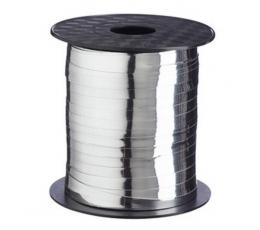 Plastikinė juostelė / sidabrinė (4.8 mm. x 500 m.)
