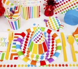 """Plastikinė staltiesė """"Vaivorykštė"""" (1.37x2.13 m.) 1"""