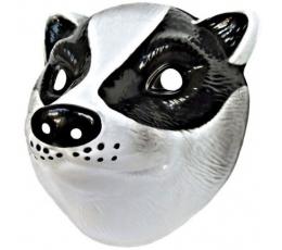 Plastikinė veido kaukė / barsukas (1 vnt.)