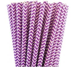 """Pop. šiaudeliai """"Violetiniai vingiai"""" (25 vnt./19.5 cm)"""
